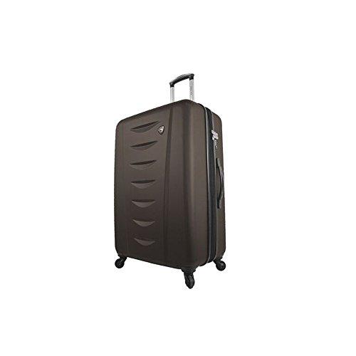 Mia Toro Italy Tasca Moderna Hardside 24 Inch Spinner Luggage, Brown, 24'