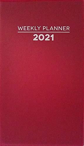"""2021 Weekly Pocket Appointment Planner Calendar Day-Timer 3.75"""" x 6.5"""", Select: Color (Red)"""