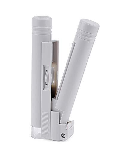 Lupa con luz led con Luces LED, Lente Doble de Vidrio Óptico de Alta Definición, con Microscopio de Mano Portátil 40X / 80X / 100X / 150X de Escala, Estudio de Aprendizaje en la Oficina lupa luz