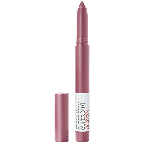 Maybelline SuperStay Ink Crayon Matte Longwear Lipstick With Built-in Sharpener, Stay Exceptional, 0.04 Ounce