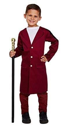 Legs Galore Kinderkostüm Schokoladenmann-Kostüm mit braunem Zylinder und silberfarbenem Gehstock