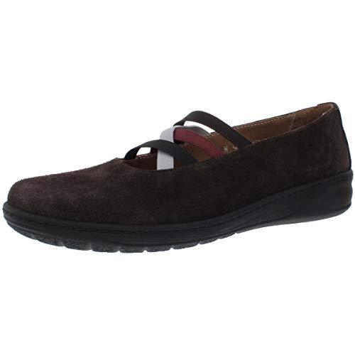 David Tate Womens Mika Suede Walking Athletic Shoes Brown 9 Narrow (AA,N)