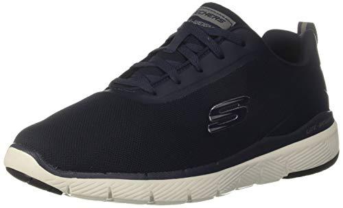 Skechers Herren Flex Advantage 3.0 Landess Sneaker, Blau Marineblau Strick Synthetik Besatz NVY, 44 EU