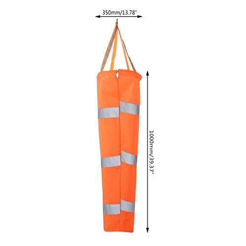 Kofun Windsock 80/100/150 cm Ceinture réfléchissante pour Sports d'extérieur Rip-Stop Wind Sock Bag 1#‿