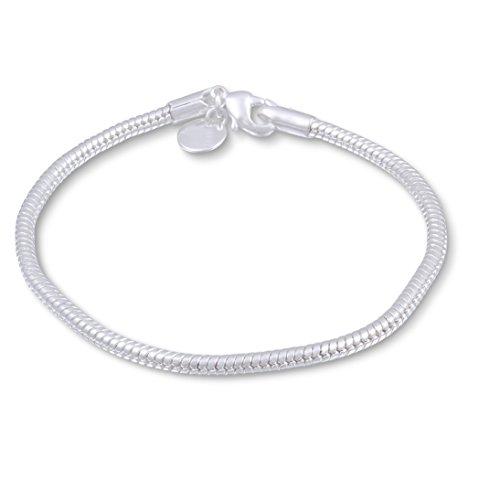 Juwelier Schönschmied- Silberarmband plattiertes Silber Schlangenarmband Schlangendesign-3 20 cm IDs9-3