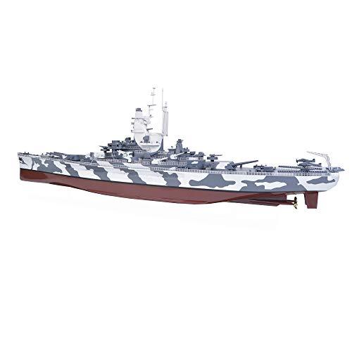 T-Toy Battleship Puzzle Plastic Model Kits, 1/350 Scale USS Alabama Battleship BB-60 Model, Adult Toys and Gift, 23.3 X 3.7Inch