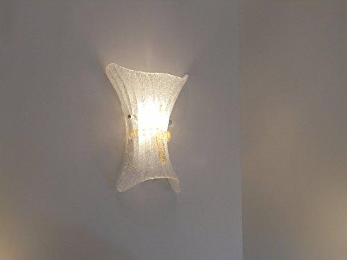 FIOCCO AP lampada da parete applique piccolo vetro classico stile murano DIAMANTLUX