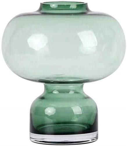 Groen glazen vaas Home Decoration No Flowers (Color : Fine Mouth)