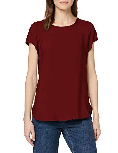 Vero Moda Boca SS Blouse Ga Noos Camiseta, Rojo Oscuro, L para Mujer