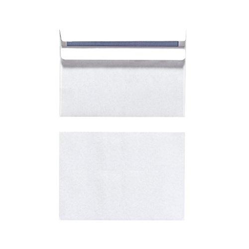 Herlitz Briefumschlag C6 Selbstklebend, 25 Stück mit Innendruck in Folienpackung, eingeschweißt, weiß