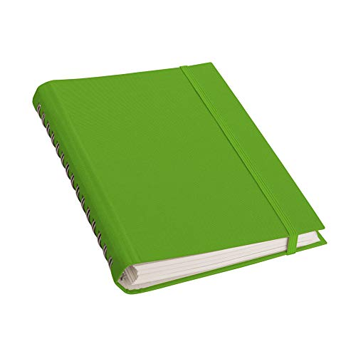 Semikolon (356200) Spiralnotizbuch Interno (A4), feinkariert, Efalineinband, 200 Seiten, lime