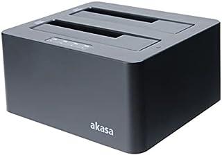 DuoDock X3 para SSD HD 2.5''/3.5'' SATA com Função Clonagem Automática USB 3.1 Akasa AK-DK08U3-BK
