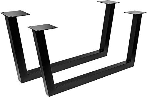 CPI Estructura de Mesa tableros Largos Tug 3005 Acero Negro Base de Trineo Trapezoidal, pies de Mesa, Patas de Mesa, Base de Mesa, Camino de Mesa, Estructura de Trineo