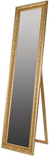 Casa Padrino Espejo de pie/Espejo de Pared Barroco Oro 45 x H. 180 cm - Espejo Hecho a Mano con Marco de Madera y Hermosas Decoraciones