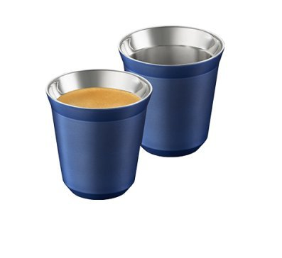 Nespresso Pixie Lungo Vivalto 2 Cups made of metal - blue
