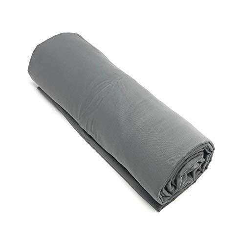 Corr - Sábana bajera (140 x 190 cm, 2 plazas), 100% algodón, color gris oscuro