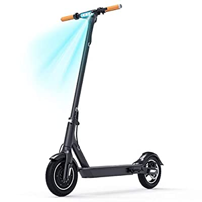 """TOMOLOO Electric Scooter for Adults Commuting L1 Plus, 10"""" Plus Air-Free Tires Adult Scooter, Up to 18.6 Miles Long-Range Li-Battery, Portable Folding Ultra-Lightweight Adults Electric Scooters"""