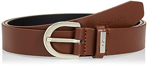 Calvin Klein CK Must Round Belt 25MM Cintura, Caramello, 95 cm Donna