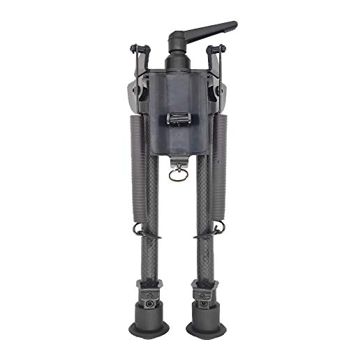 FeelRight 9-13 inch Carbon Fiber Solid Base Bipod Pivoting with Pod-Lock for Swivel Style Hunting Shooting Bipod