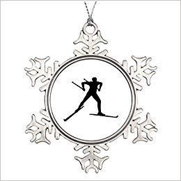Monsety Riveral Skifahren Besondere Weihnachten lustig Urlaub Basteln Schneeflocke Ornamente Home Christmas Tree Decor