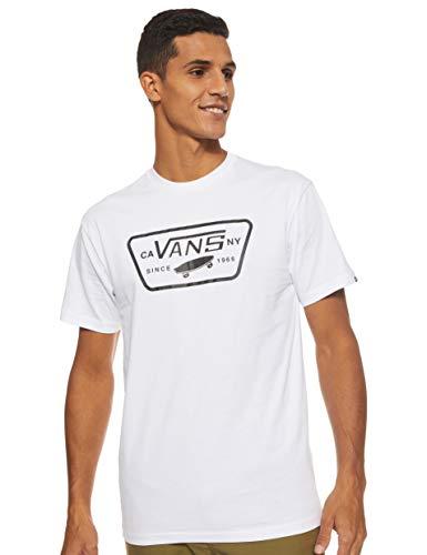 Vans Herren Full Patch T - Shirt, Weiß (White/Black), Medium