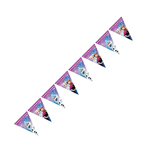 Procos 86921 Guirlande à fanions Disney Frozen Northern Lights, Multicolore