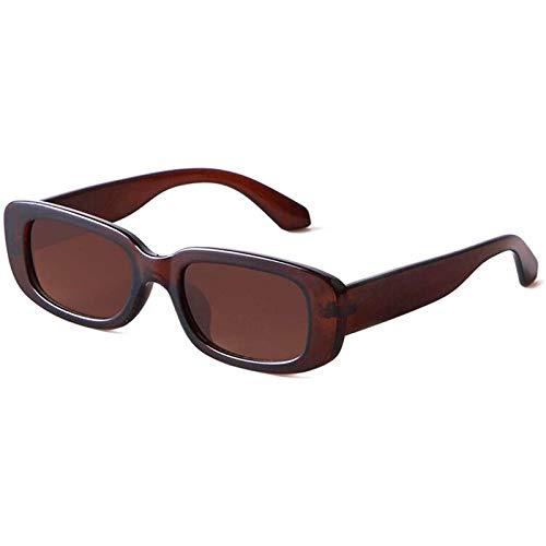 Briskorry Gafas de sol polarizadas con efecto espejo, cuadradas, estilo retro, protección para conducción, viajes, golf y ocio.