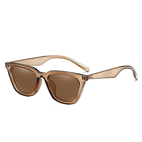 ZHANGMINGXI Gafas De Sol Polarizadas, Gafas De Mujer, Gafas De Sol De Montura Pequeña, Gafas De Protección Uv Té transparente té integral