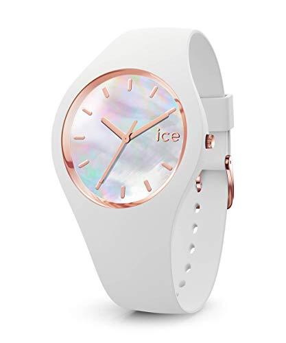 Ice-Watch - ICE pearl White - Weiße Damenuhr mit Silikonarmband - 016935 (Small)