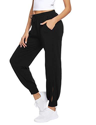 Hawiton Pantaloni da Jogging Donna, Pantaloni della Tuta Larghi in Cotone per Pantaloni da Allenamento Fitness da Jogging