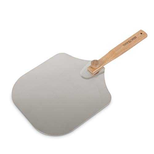 Chase&Carter Pizza Peel | Premium Non-Stick Aluminium Metal Paddle | Foldable, Detachable, & Ergonomic Handle | Perfect for Baking Pizza, Cakes, Pies, Breads and Pastries | 35.5 x 30.5 cm (12 x 14 in)
