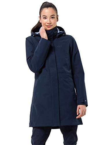 Jack Wolfskin Damen OTTAWA COAT wasserdichter 3in1 Mantel, midnight blue, L
