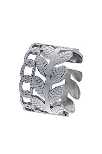 Córdoba Jewels | Anillo en Acero con diseño Hoja Cadena