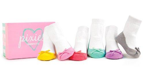 Trumpette Pixie - Calcetines para bebé, color pastel
