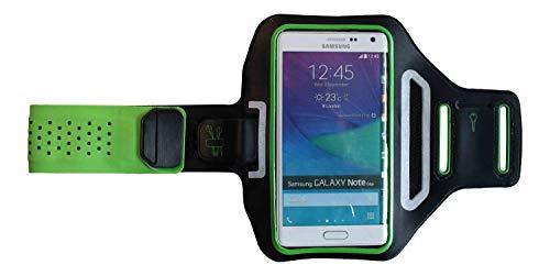 Sport-Armband Oberarm Tasche passend für Sony Xperia 10/5 / Z1 / Z2 / Z3 / Z5 Handy Halterung Fitness-Hülle, Tasche mit großem Fach Jogging, Dealbude24 Trendy Groß Grün