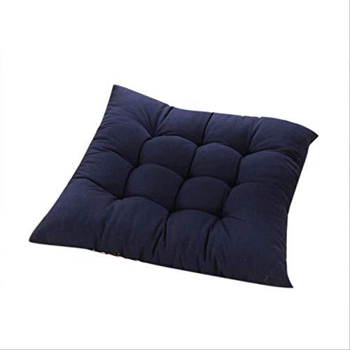 NoNo Stoel zitkussen kussen duurzame elasticiteit eetkussen tuin patio mat huis keuken kantoor kussen kussen 45x45cm donkerblauw