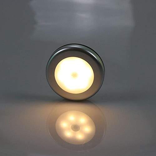 6 LED nachtlampje, bewegingssensor, magnetisch, draadloos, met bewegingsmelder, voor muur