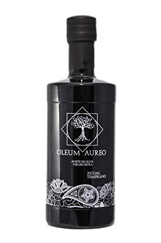 Aceite de oliva virgen extra de Jaén. – Picual gourmet botella 500ml. - Oleum Aureo.