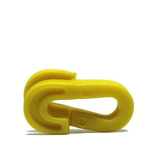 Clips de red de fútbol Fitness Health | Sistema de red de portería rápido | Netclip amarillo 20 Set – colores varían