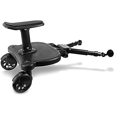 ベビーカーステップ ベビーカーボード 子供用 二人乗り 補助ペダル 立ち板 座席 ベビーカーパーツ アダプター 取り外し可能 耐荷重25kg 2〜6歳の子供に適用