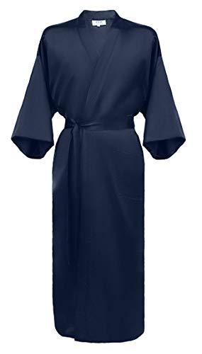 Japanisher herren Kimono Morgenmantel Bademantel Satin burgund XXL