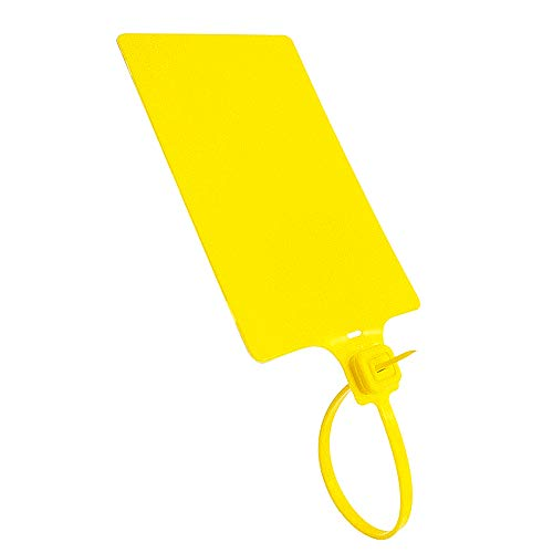 Plastic Seals Shipping Tags Logistics Use Big Sign Tie Large Label Tie, 255 mm Total Length, Package of 100 pcs (Yellow)