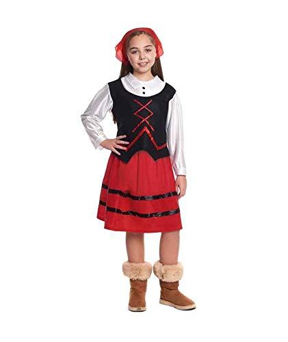 H HANSEL HOME Disfraz Pastora Infantil - Niña Vestido para Cosplay/Navidad Size 7-9 años