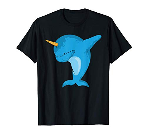 Dabbing narwhal Dab Funny Gift idea for men women kids cute Camiseta