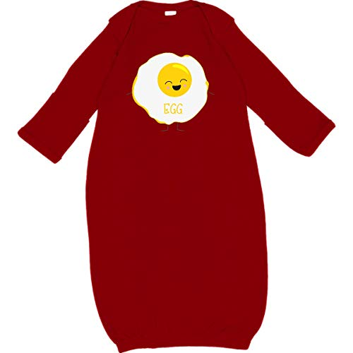 inktastic Fried Egg Costume Newborn Layette Red