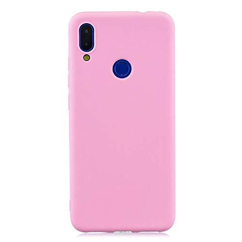 Capa Tpu Fosca Para Xiaomi Redmi Note 7 e Note 7 Pro - Capinha Case De Proteção Ultra Fina Slim Material Silicone Fosco (Rosa)