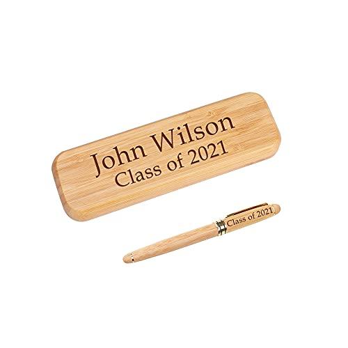 Dinikally Bolígrafo personalizado con estuche de madera, regalo de graduación para estudiantes y profesores (sty1)