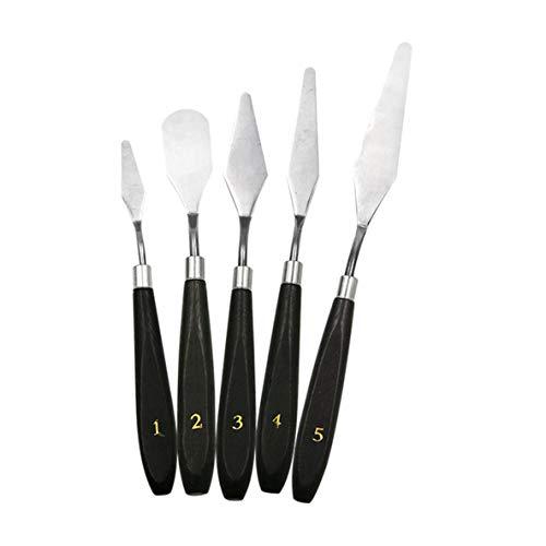 Cuchillos de paleta, 5 piezas Kit de espátula de acero inoxidable profesional...