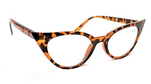mt57 Retro 1950s 1960s Ojo De Gato Moda Vintage Gafas de lectura +1.5 +2.0 +2.5 - Carey