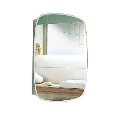 Gabinete de Espejo de Baño en Pared, Gabinetes de Almacenamiento de Medicinas de Cocina de Acero Inoxidable Multiusos, Plateado, 500x700mm,Right